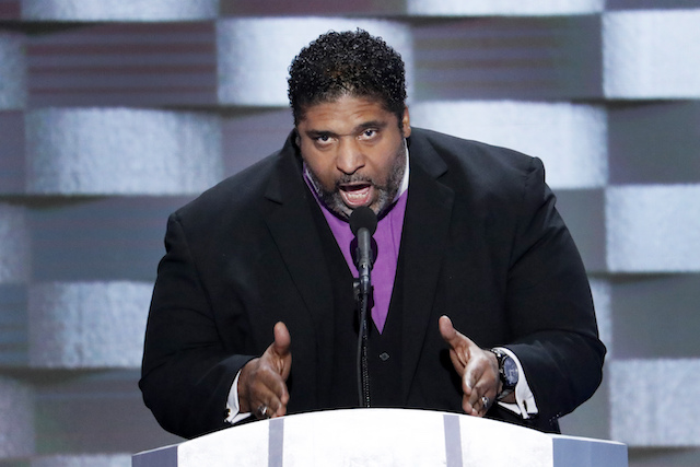 Rev. William Barber speaks during the final day of the Democratic National Convention in Philadelphia , Thursday, July 28, 2016. (AP Photo/J. Scott Applewhite)