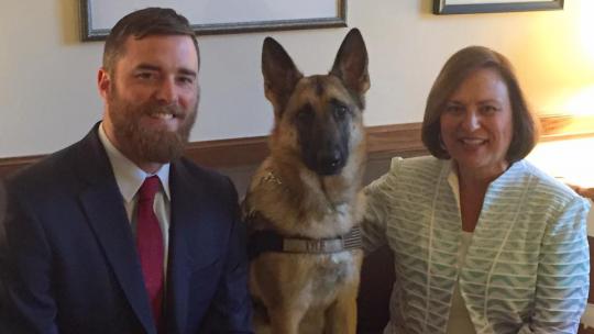 Cole Lyle, Kaya, and Senator Deb Fischer (R-Neb.) / Cole Lyle's Facebook