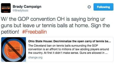 #FreeBallin / Screengrab from Brady Campaign's Twitter