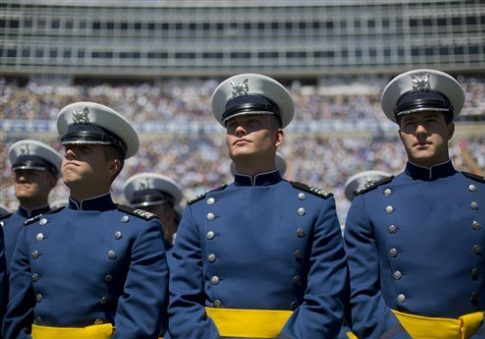 Members of the 2016 class of the U.S. Air Force Academy during graduations ceremonies, Thursday, June 2, 2016, in Colorado Springs, Colo. AP / Pablo Martinez Monsivais