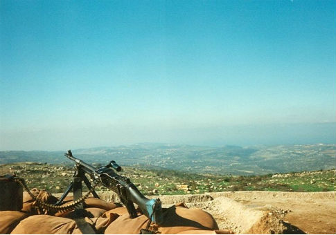 An IDF military post in Lebanon in 1998 / Oren1973