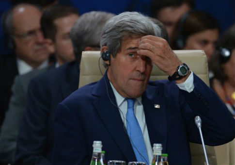 John Kerry at the NATO summit in Warsaw, Poland / AP
