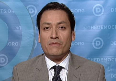 DNC Communications Director Luis Miranda / Screenshot from CNBC
