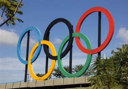 Olympic hoops installed in Parque Madureira, in Rio de Janeiro, on June 22, 2016. Luiz Souza / Fotoarena / AP