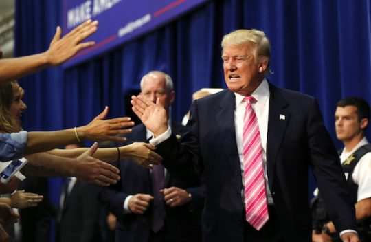 New Trump in Fredericksburg, Va. / AP