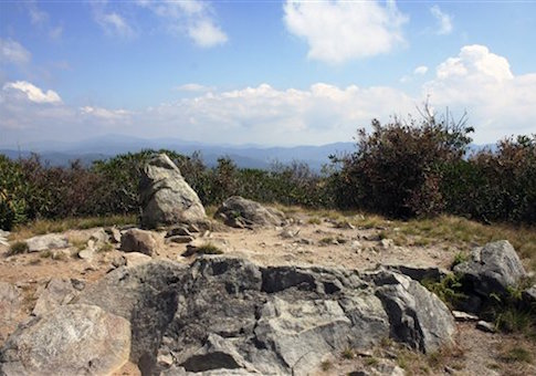 Rocky Top in the Great Smoky Mountains National Park on the Appalachian Trail