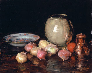 'Just Onions' by William Merritt Chase / Los Angeles County Museum of Art