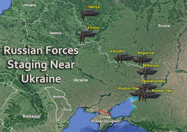 Russian Military Forces Staging Near Ukraine - Us troops near russia map