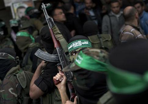 Hamas militants of the Izzedine al-Qassam Brigades in Gaza City / AP