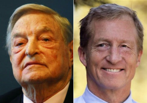 George Soros and Tom Steyer / AP