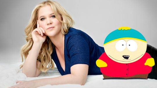 Amy Schumer and Eric Cartman