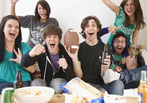 college junk food drinking