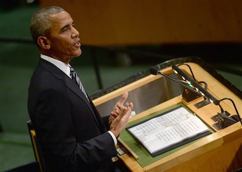 President Obama delivers his final address at the UN / AP