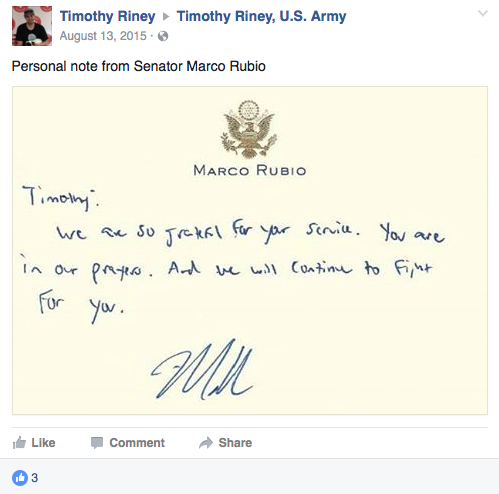 Timothy Riney Facebook