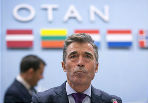 Then-NATO Secretary General Anders Fogh Rasmussen in 2014 / AP