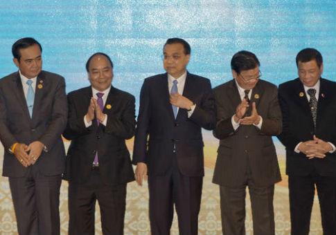 Leaders at the ASEAN summit in Laos / AP