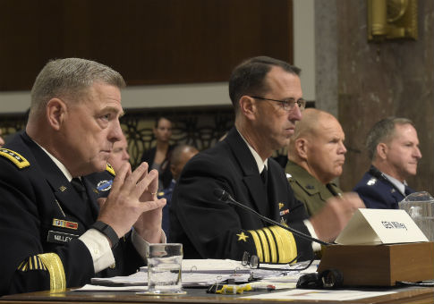 U.S. service chiefs testify before the Senate Armed Services Committee / AP
