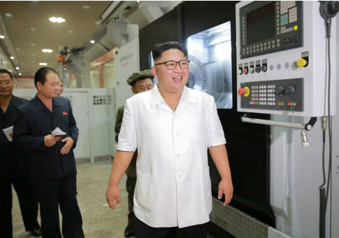 Kim Jong Un gives field guidance to the January 18 General Machine Plant / REUTERS