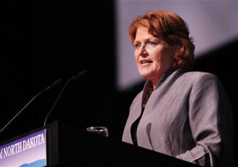 Sen. Heidi Heitkamp (D., N.D.) / AP