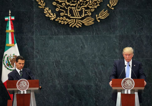 Donald Trump, right, and Mexico's President Enrique Pena Nieto on Aug. 31, 2016 / AP
