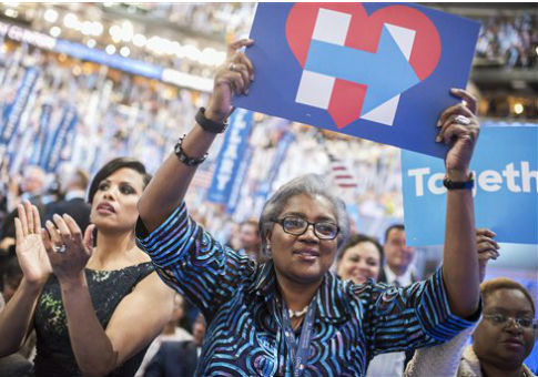 Donna Brazile at the Democratic National Convention / AP