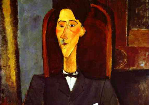 'Portrait of french writer and film-maker Jean Cocteau' (detail) by Amedeo Modigliani