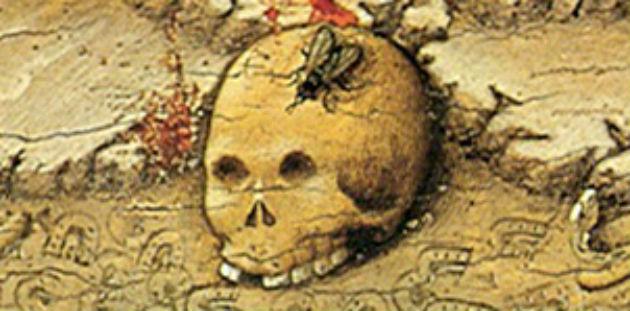 'Mystical Crucifixion' (detail), attributed to Juan Rosado