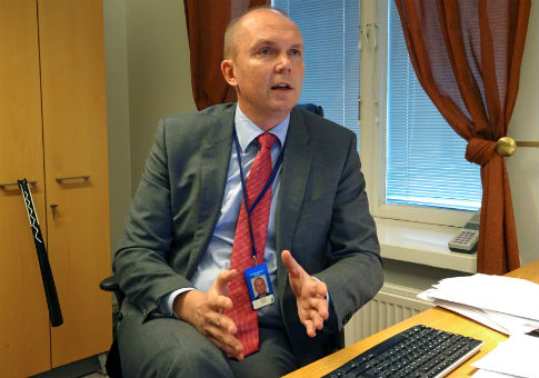 Head of the Finnish government's communication department Markku Mantila at his office in Helsinki, Finland / REUTERS