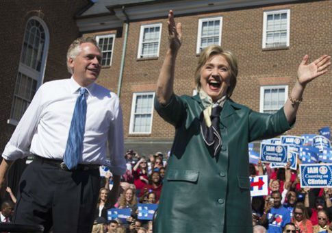 Terry McAuliffe with Hillary Clinton / AP