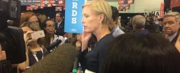 Cecile Richards in the spin room