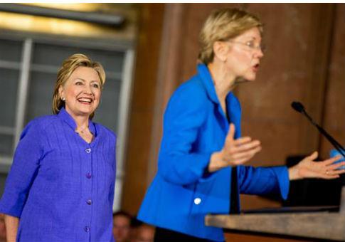Hillary Clinton, left, and Elizabeth Warren / AP