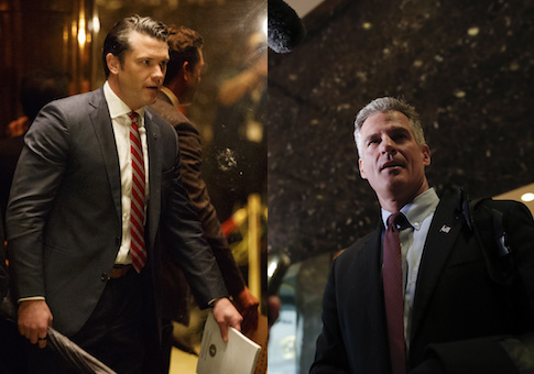 Pete Hegseth and Scott Brown in Trump Tower