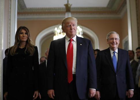 Donald Trump,Melania Turmp,Mitch McConnell