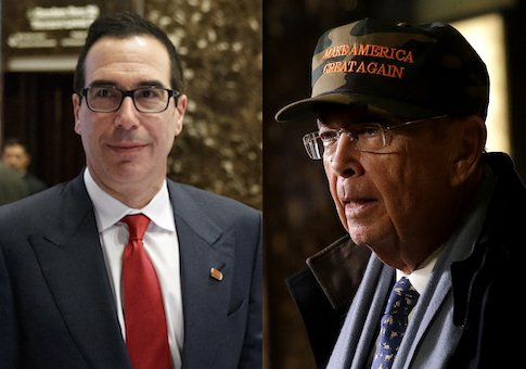 Steve Mnuchin, Wilbur Ross in Trump Tower