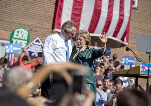 Virginia Gov. Terry McAuliffe and Hillary Clinton / AP