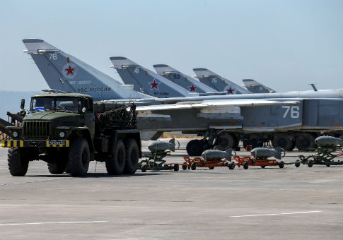 Russian military jets at Hmeymim air base in Syria / REUTERS