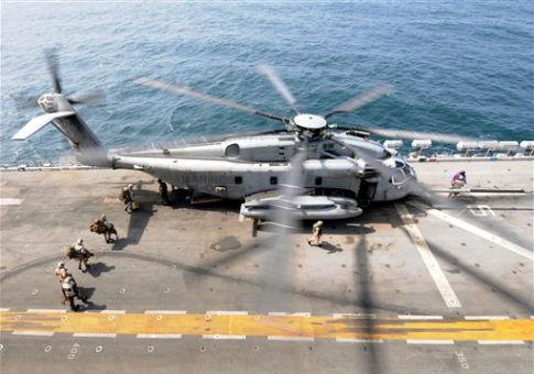 A U.S. Marine Corps CH-53E Super Stallion helicopter / AP