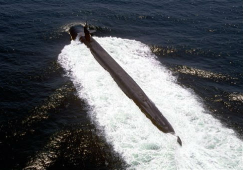 The nuclear-powered ballistic missile submarine USS Pennsylvania / AP