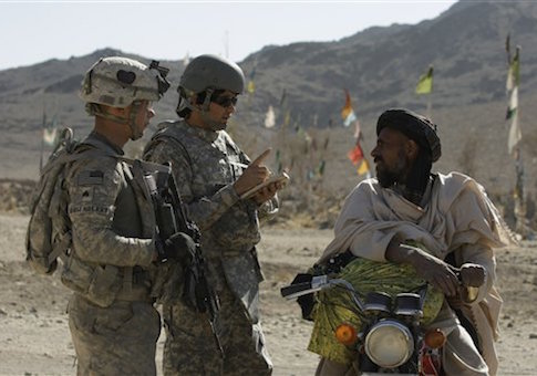 A U.S. Army sergeant and an Afghan interpreter