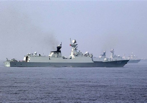 Chinese Navy ships in 2013 / AP