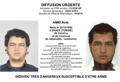 Tunisian national Anis Amri, killed by German police for alleged involvement in Berlin Christmas market attack / AP