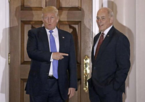 Donald Trump with retired U.S. Marine Corps General John Kelly / AP
