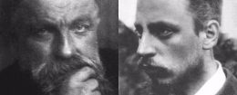 Auguste Rodin, left, and Rainer Maria Rilke