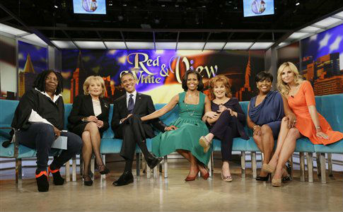 """ABC TV show """"The View"""" in New York, Sept. 24, 2012 / AP"""