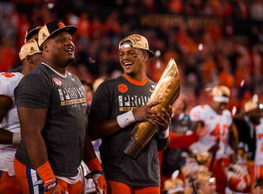 The ACC takes its rightful place atop the college football heap. (AP)