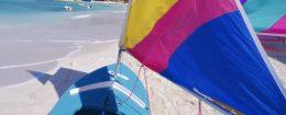 Sails on the beach, St Lucia