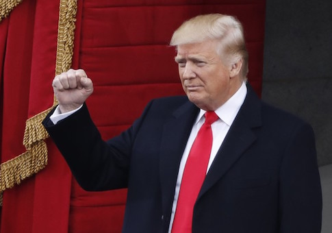 President-elect Donald Trump arrives for the inauguration ceremonies swearing him in as the 45th president of the United States on the West front of the U.S. Capitol in Washington