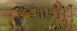 'Young Spartans Exercising' by Edgar Degas