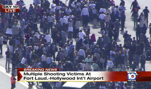 Still image from video provided by NBC TV Local10 of international airport in Fort Lauderdale, Fla. / AP
