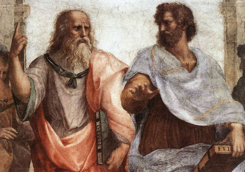 Plato (L) and Aristotle in Raphael's The School of Athens / Wikimedia Commons